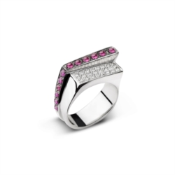 Anello da uomo con diamanti e rubini [Man Collection]