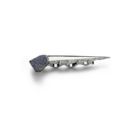 Tie clip with blue sapphires and diamonds [Man Collection]