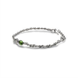 Twist necklace with green quartz [Man Collection]