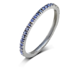 Anello per falange con zaffiri blu [Fine Identity Collection]