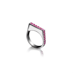 Anello in Argento 925 con Rubini [Chaos Collection]