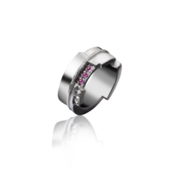 Anello in Argento 925 con Rubini e Dimanti [Chaos Collection]